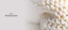 Large Knit White Fabric Texture Textile Macro Pattern Blur Background