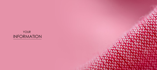 Pink fabric cloth material texture textile macro pattern blur background