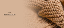 Large Knit Brown Fabric Textur...