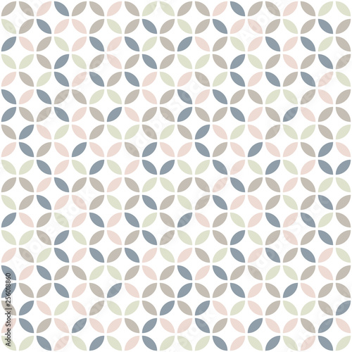 Geometric seamless pattern in pastel colors Canvas Print