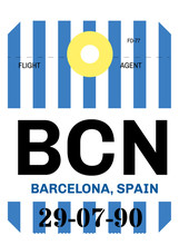 Barcelona Airport Luggage Tag