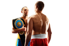 Professional Boxers Isolated I...