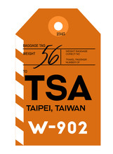 Taipei Airport Luggage Tag