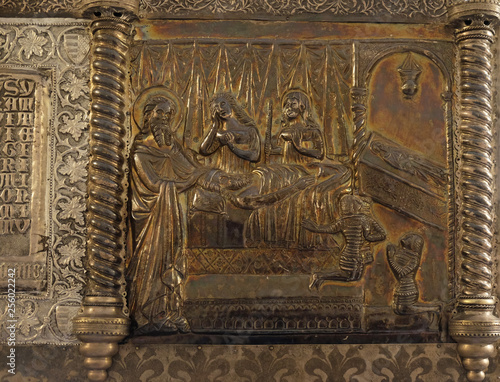 Bass relief with images from the life of St Fototapeta