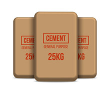 Creative Vector Illustration Of Cement Bags, Paper Sacks Isolated On Transparent Background. Art Design Template. Abstract Concept Graphic Element