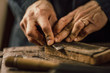 details of craftsmanship of wood