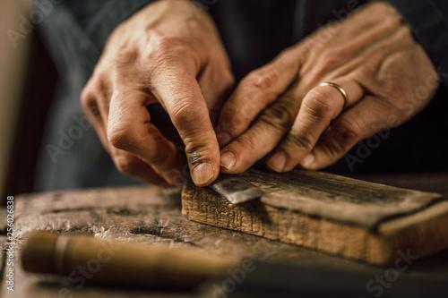 Photo  details of craftsmanship of wood