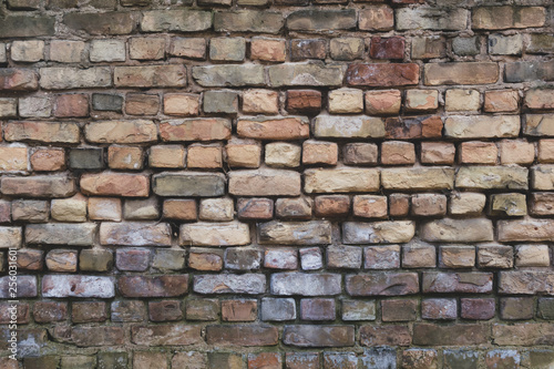Recess Fitting Wall Old Gray Brick Wall Background Texture