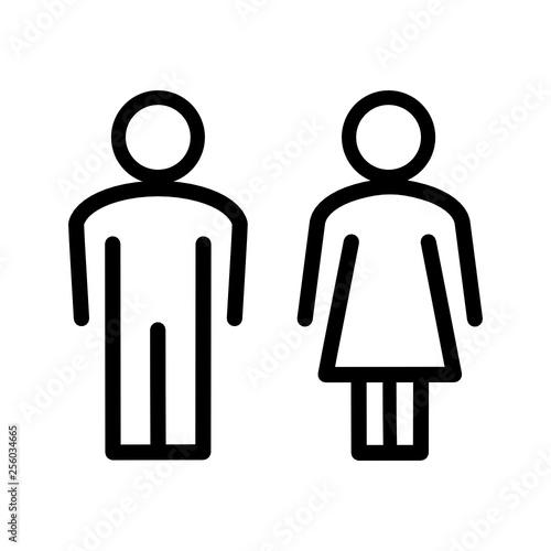 Fototapeta sylwetka mężczyzny i kobiety ikona obraz