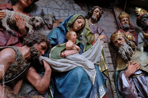 Fotografie, Obraz  Nativity Scene, altarpiece in the church of Saint Matthew in Stitar, Croatia