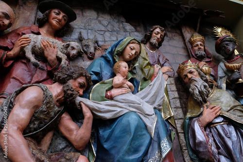 Obraz na plátne Nativity Scene, altarpiece in the church of Saint Matthew in Stitar, Croatia