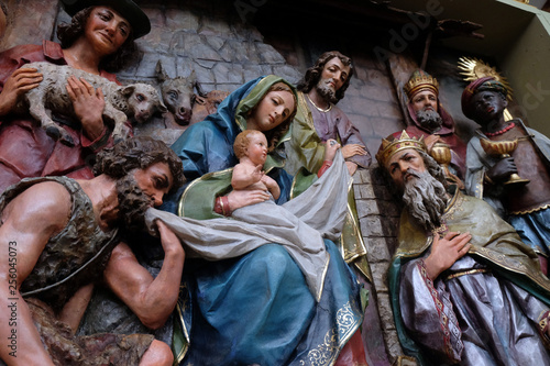 Valokuvatapetti Nativity Scene, altarpiece in the church of Saint Matthew in Stitar, Croatia