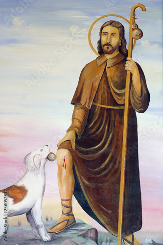 Canvas Print Saint Roch altarpiece in the Chapel of Saint Isidore and Saint Roch in Komor Zac