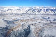 Wasatch Front Mountains And Salt Lake, Utah