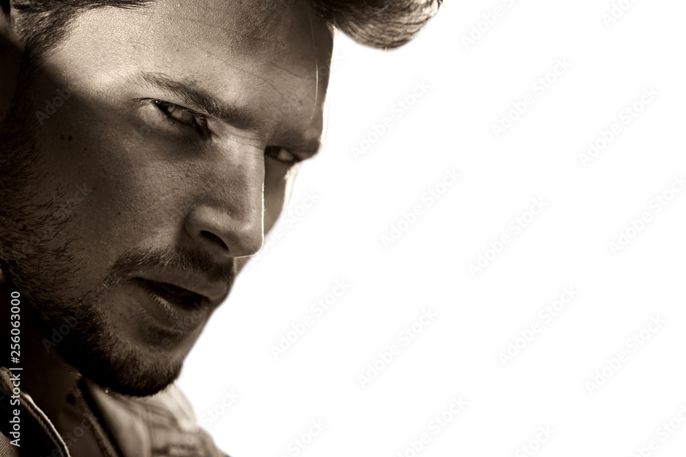 Fototapety, obrazy: Closeup portrait of a handsome young man