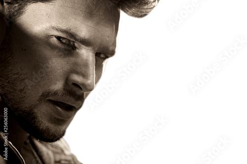 Fotografiet  Closeup portrait of a handsome young man