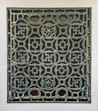 Traditional Window Patterned Chineses House