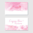 Hand Painted Art Of Watercolor Paint On Watercolor Paper. Abstract Business card , Vector Illustration Background