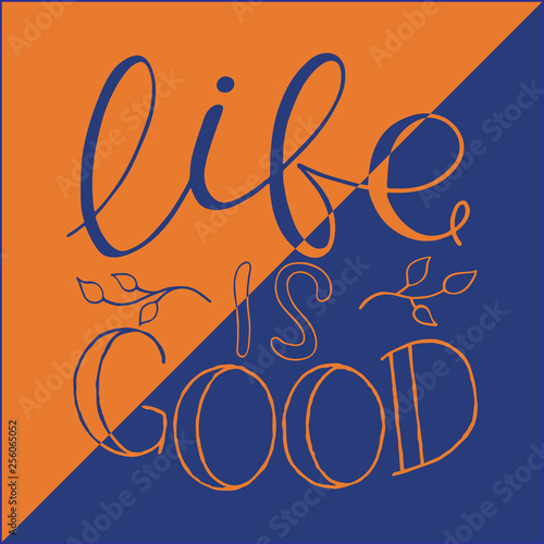 Fototapeta Calligraphy Inspirational quote. Motivation for life and happiness obraz na płótnie