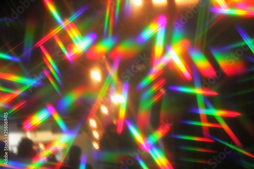 hologram prism abstract disco lights nightclub synthwave dance party background Canvas Print