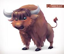 Yak, Buffalo Cartoon Character...