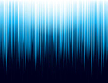 Background With Blue Glowing Striped Lines Technology. Abstract Background With Vertical Lines. Cover Design Template For The Presentation, Brochure, Web, Banner, Catalog, Poster, Magazine - Vector