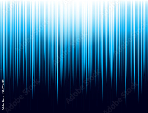 Background with blue glowing striped lines technology. Abstract background with vertical lines. Cover Design template for the presentation, brochure, web, banner, catalog, poster, magazine - Vector Wall mural