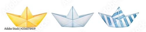 Fotografia  Collection of different folded paper boats