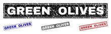 Grunge GREEN OLIVES Rectangle ...