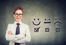 Confident Happy Business Woman...