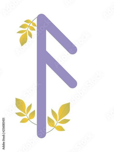 skandynawska-fioletowa-litera-z-listkami