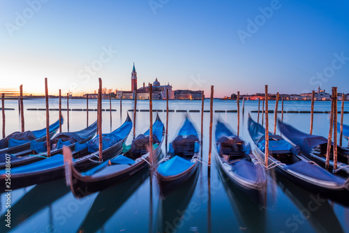 Wenecja Włochy Widok gondoli z San Marco Piazza