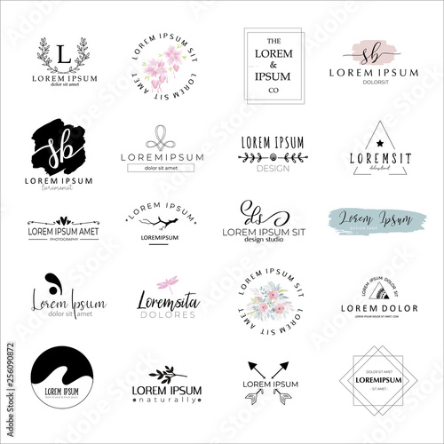 Logo templates set Wallpaper Mural