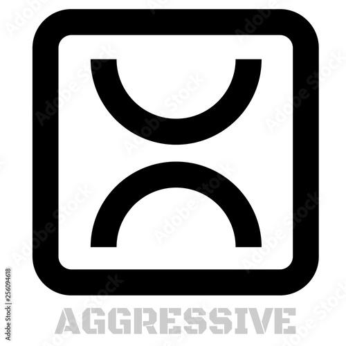 Aggressive concept icon on white Tapéta, Fotótapéta