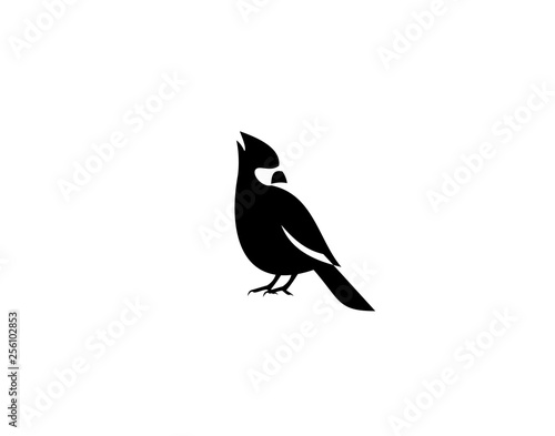 Cardinal Bird Logo Symbol vector Design Illustration Wall mural