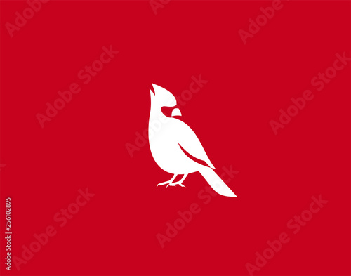 Cardinal Bird Logo Symbol vector Design Illustration Poster Mural XXL