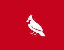 Cardinal Bird Logo Symbol Vect...