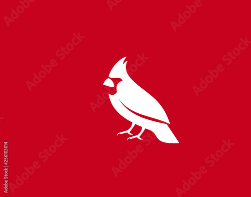 Canvas Print Cardinal Bird Logo Symbol vector Design Illustration
