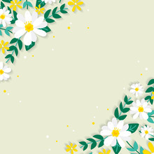 Spring Floral Border Illustration