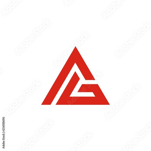 AG initials Triangle Logo Template abstract Canvas Print