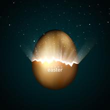 Broken Golden Easter Egg Givin...