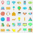 Our contact icons set. Cartoon style of 36 our contact vector icons for web for any design