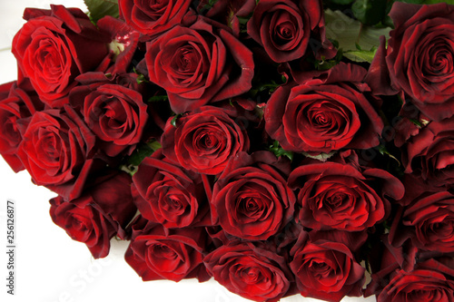 赤いバラの花束 #256126877