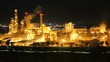 Night time of chemical refinery plant