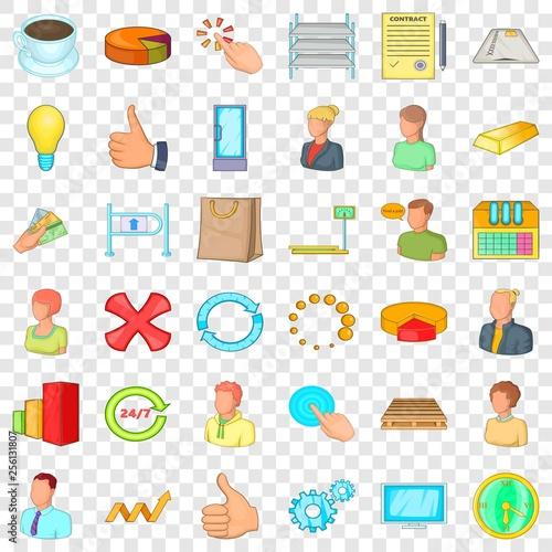 Photo  Corporation icons set
