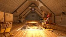 小屋の屋根裏