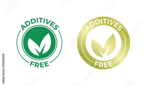 Fotografie, Obraz  Additives free vector leaf golden icon