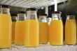 orange juice in bottles ready for drink,healthy drink