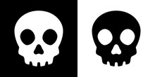 Skull Crossbone Vector Pirate Icon Logo Halloween Ghost Graphic Symbol Illustration