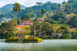Leinwanddruck Bild - Island in Kandy Lake, Kandy, Sri Lanka